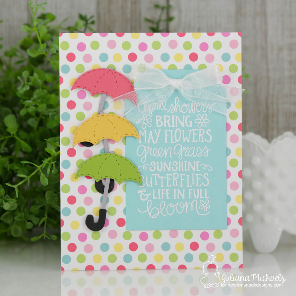 April Showers Stamp Set ©2018 Newton's Nook Designs