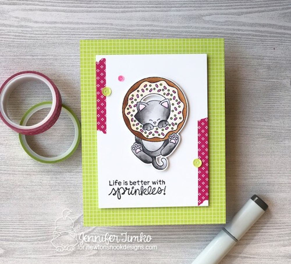 Newton's Donut Stamp Set ©2018 Newton's Nook Designs