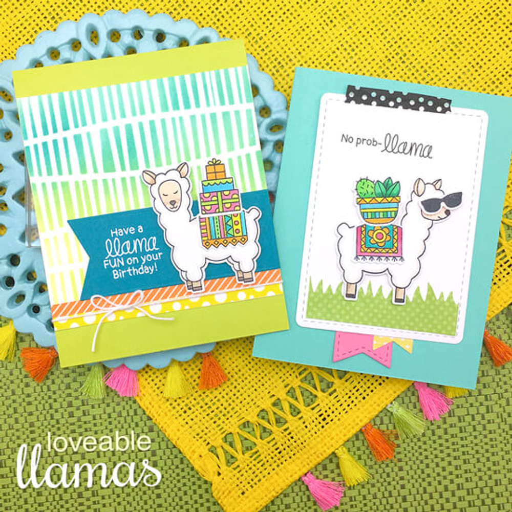 Loveable Llamas Stamp Set ©2018 Newton's Nook Designs