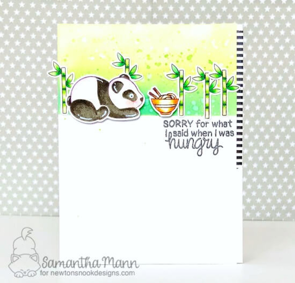 Playful Pandas Stamp Set ©2018 Newton's Nook Designs