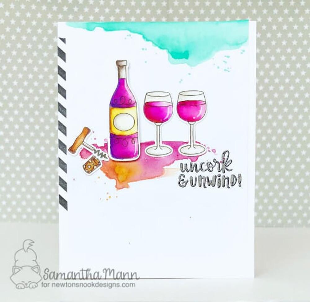 Wine A Little Stamp Set ©2018 Newton's Nook Designs