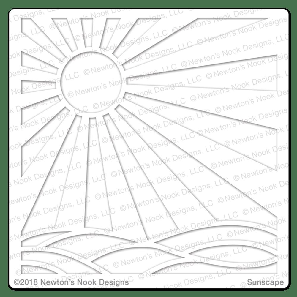 Sunscape Stencil ©2018 Newton's Nook Designs