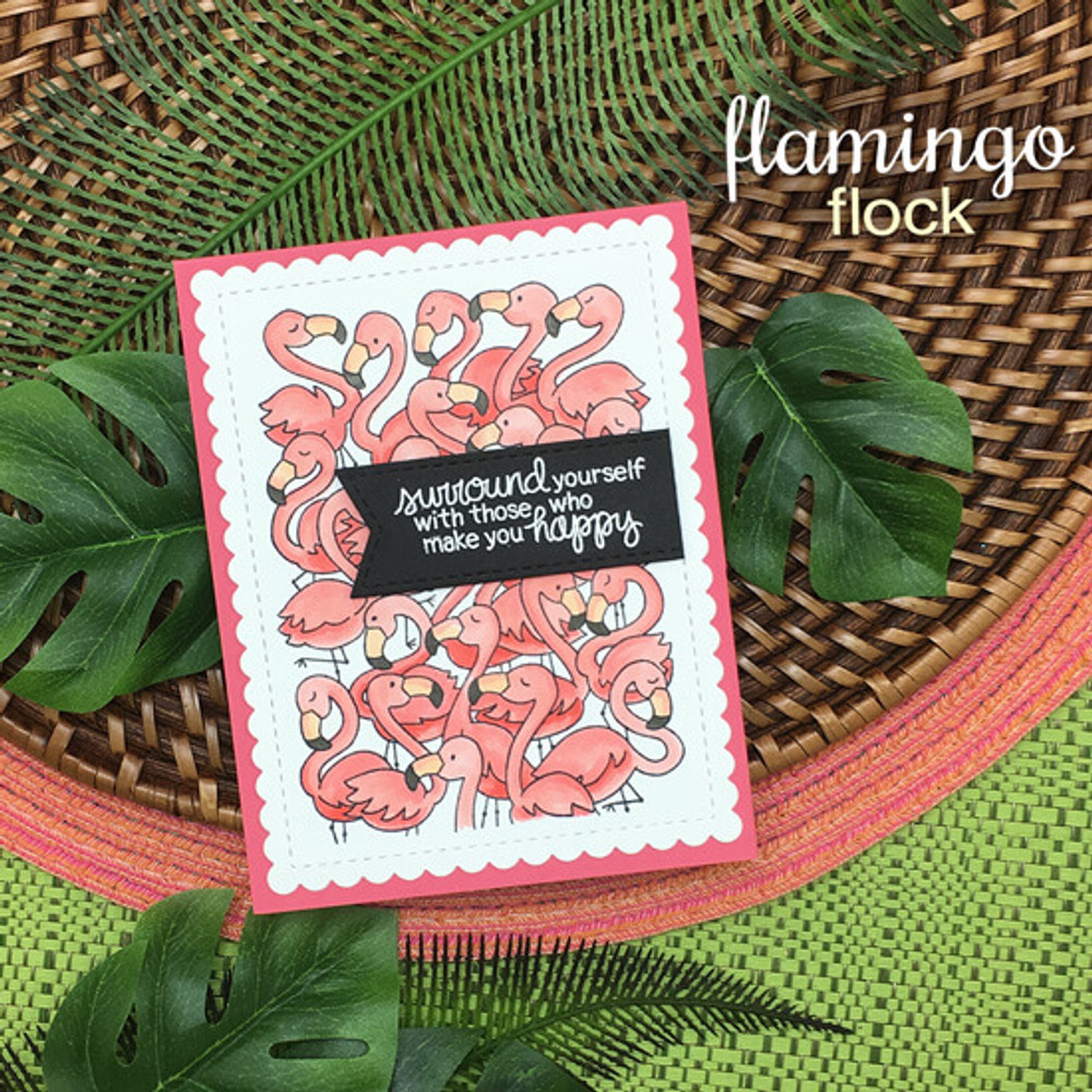 Flamingo Flock Stamp Set ©2018 Newton's Nook Designs