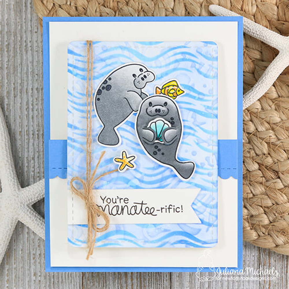 Manatee-rific Stamp Set ©2018 Newton's Nook Designs