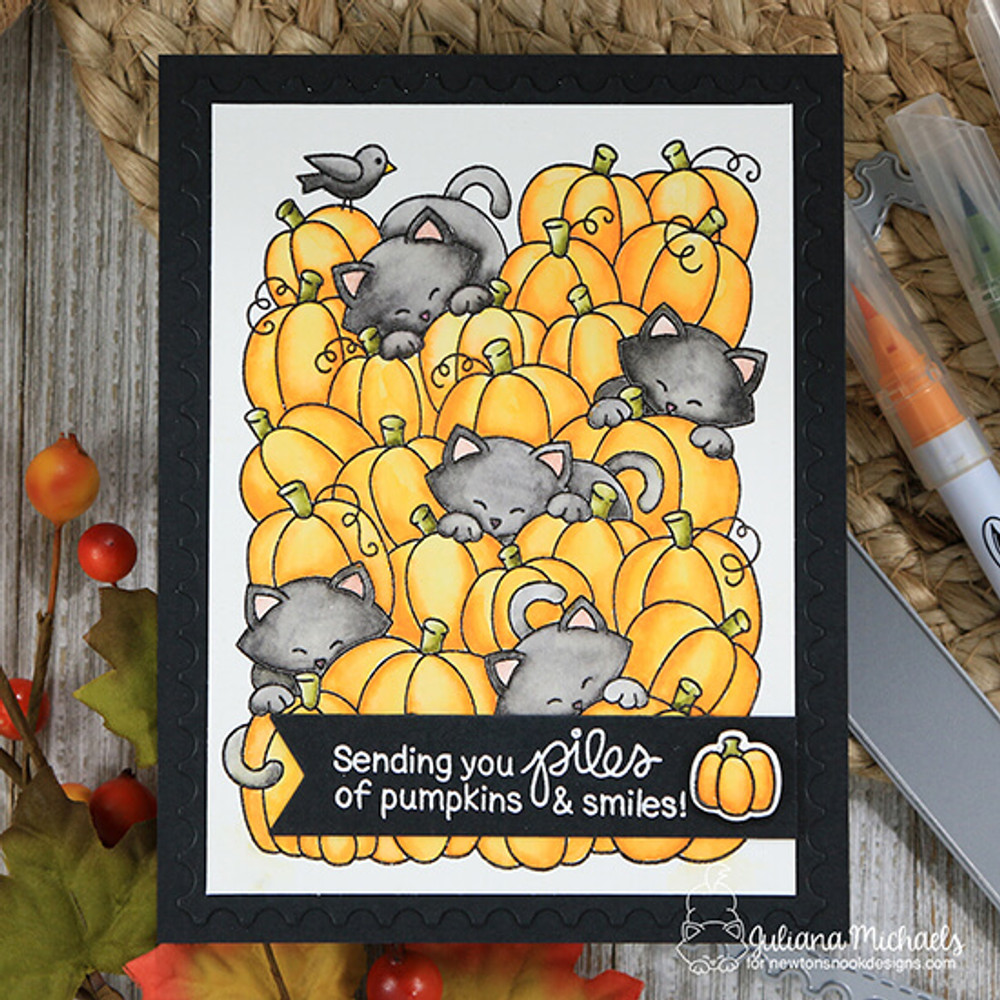 Newton's Perfect Pumpkin  Stamp Set ©2018 Newton's Nook Designs