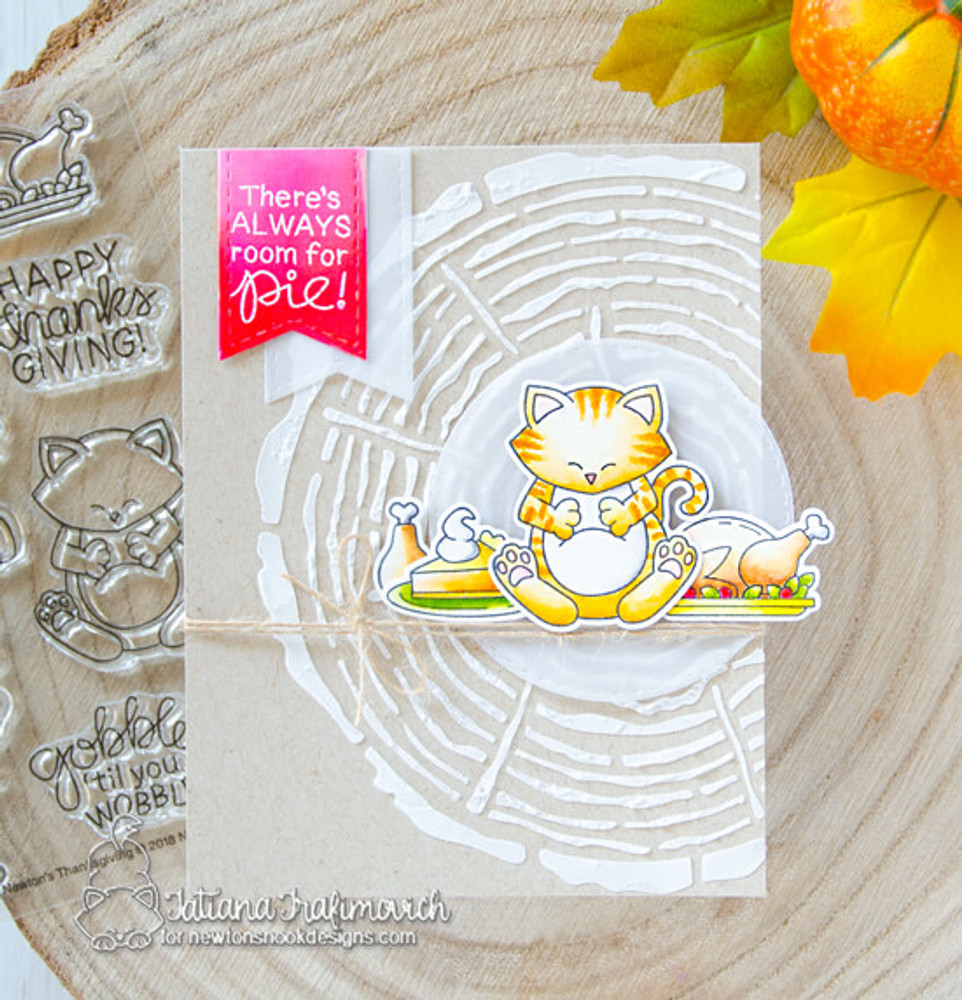 Newton's Thanksgiving Stamp Set ©2018 Newton's Nook Designs