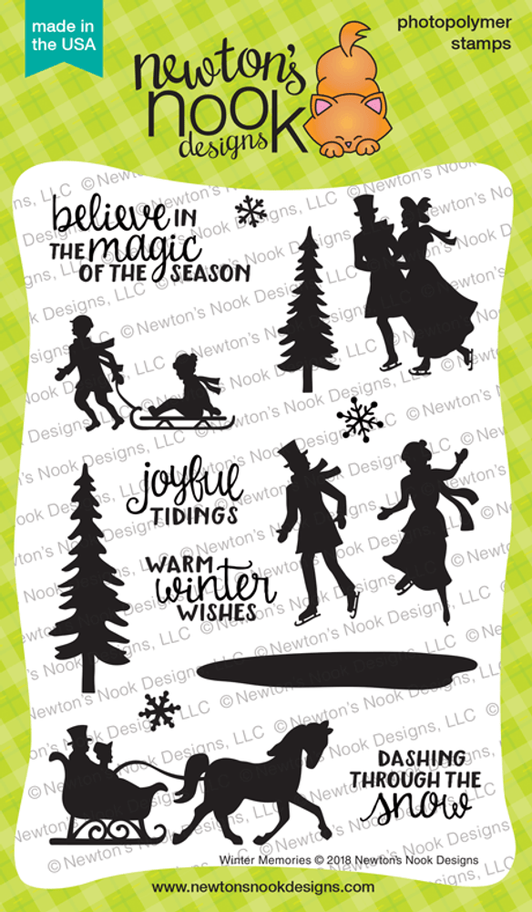 Winter Memories Stamp Set ©2018 Newton's Nook Designs