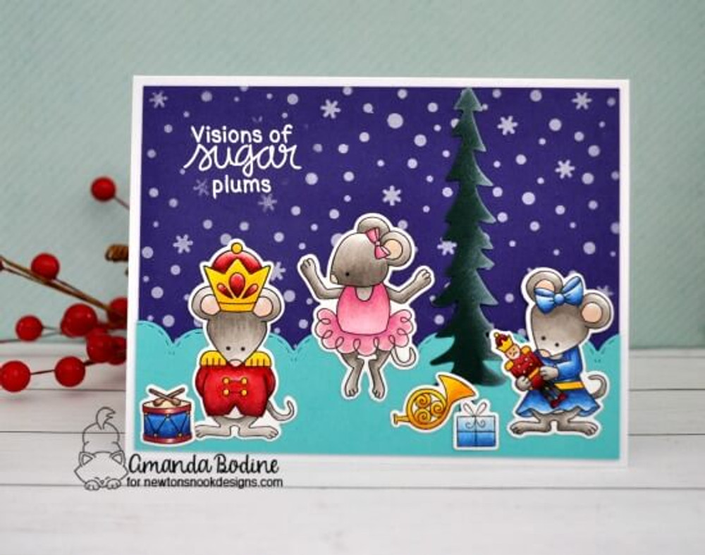 The Nutcracker Squeak Stamp Set ©2018 Newton's Nook Designs