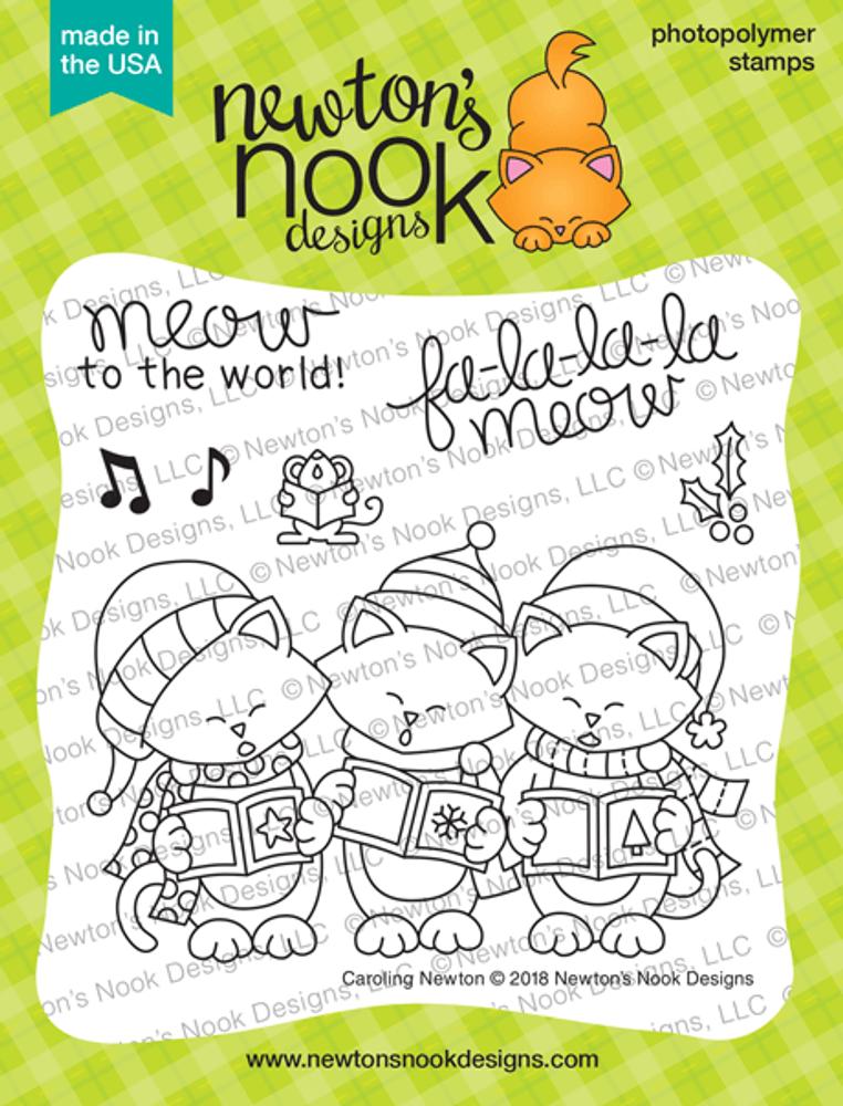 Caroling Newton Stamp Set ©2018 Newton's Nook Designs