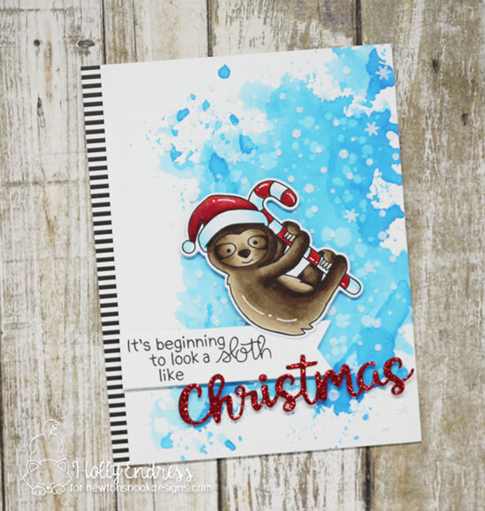 Slothy Christmas Stamp Set ©2018 Newton's Nook Designs
