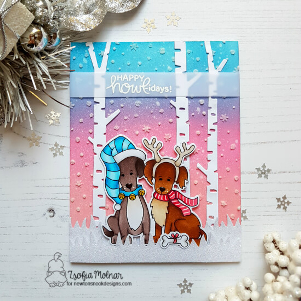 Happy Howl-idays Stamp Set ©2018 Newton's Nook Designs