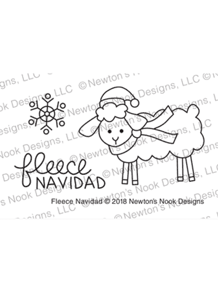 Fleece Navidad Stamp Set ©2018 Newton's Nook Designs