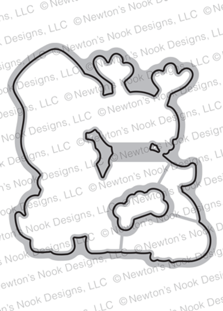 Happy Howl-idays Die Set ©2018 Newton's Nook Designs