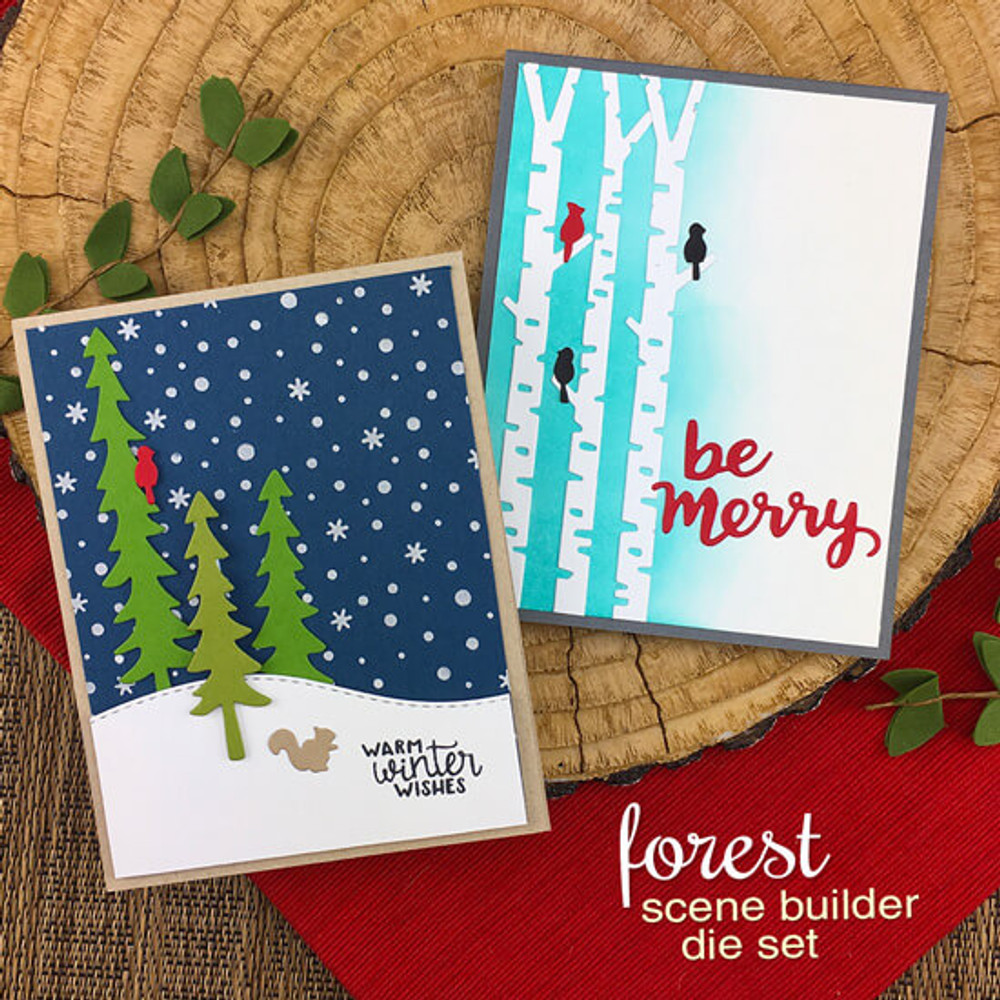 Forest Scene Builder Die Set ©2018 Newton's Nook Designs