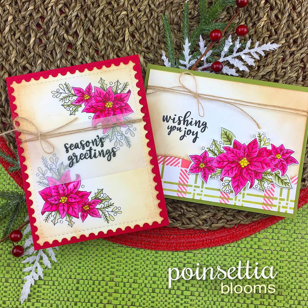 Poinsettia Blooms Stamp Set ©2018 Newton's Nook Designs