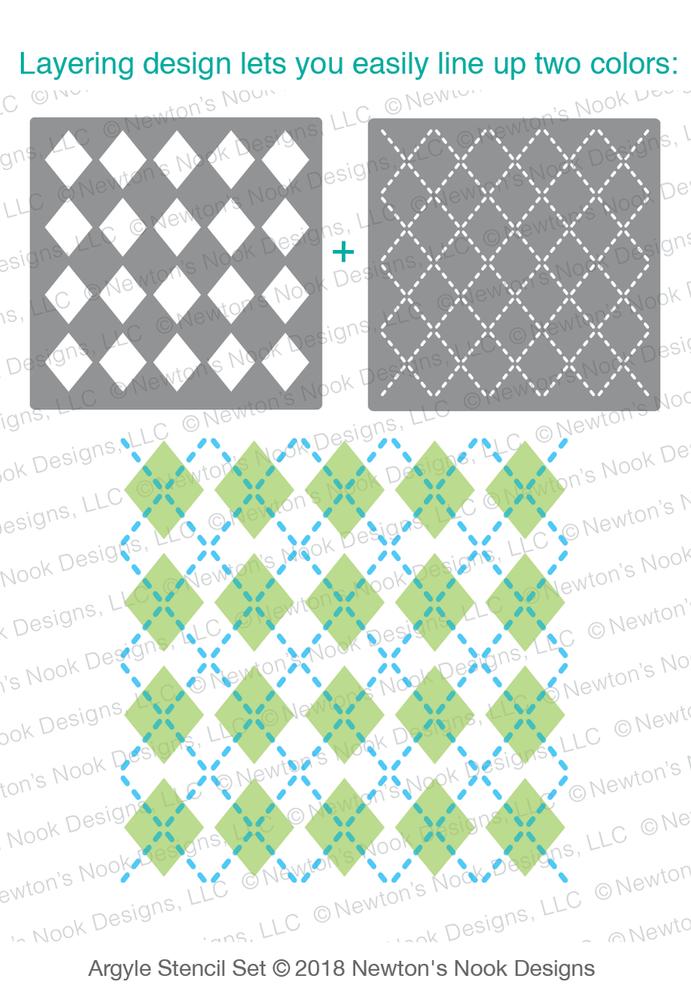 Argyle Stencil Set ©2018 Newton's Nook Designs