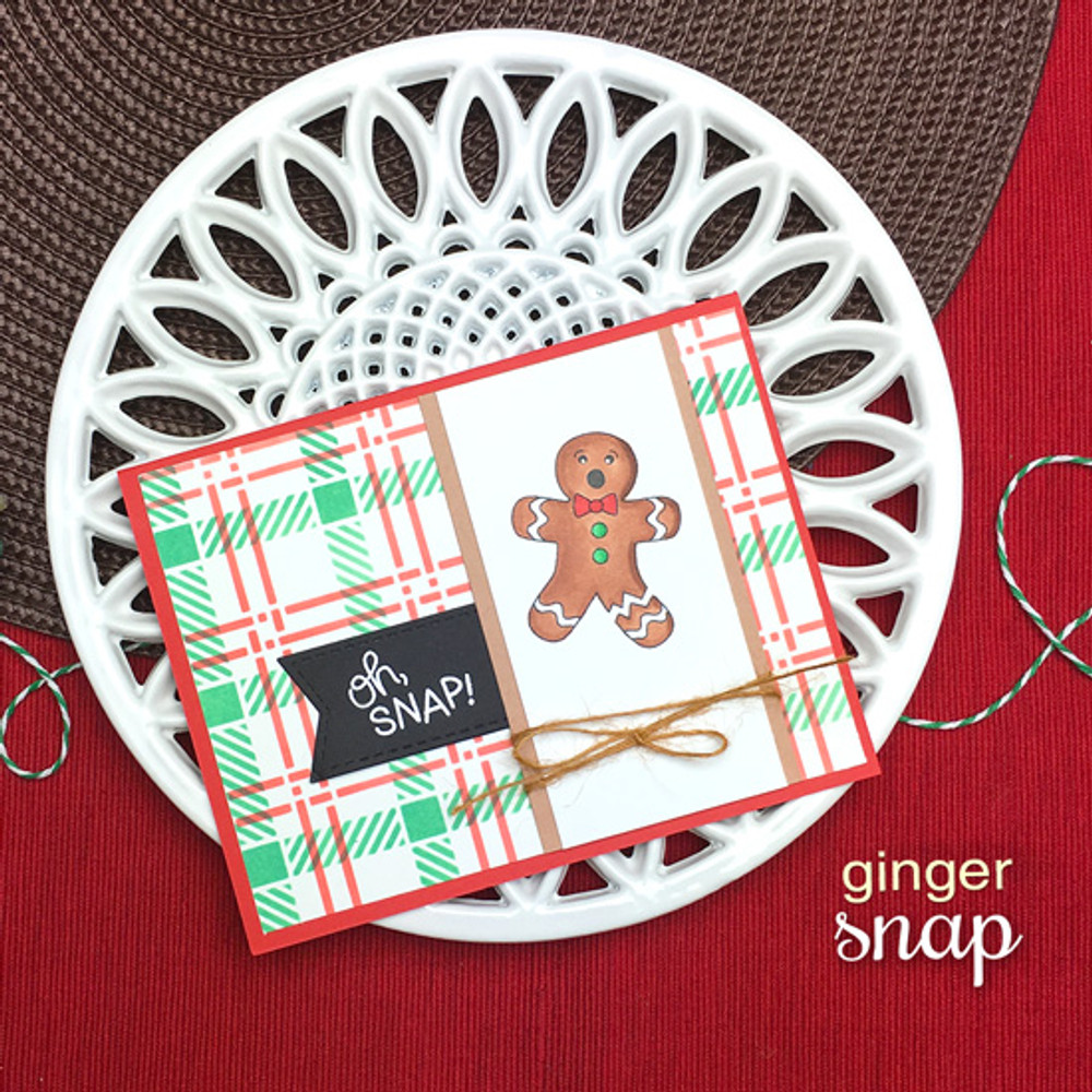 Ginger Snap Stamp Set ©2018 Newton's Nook Designs
