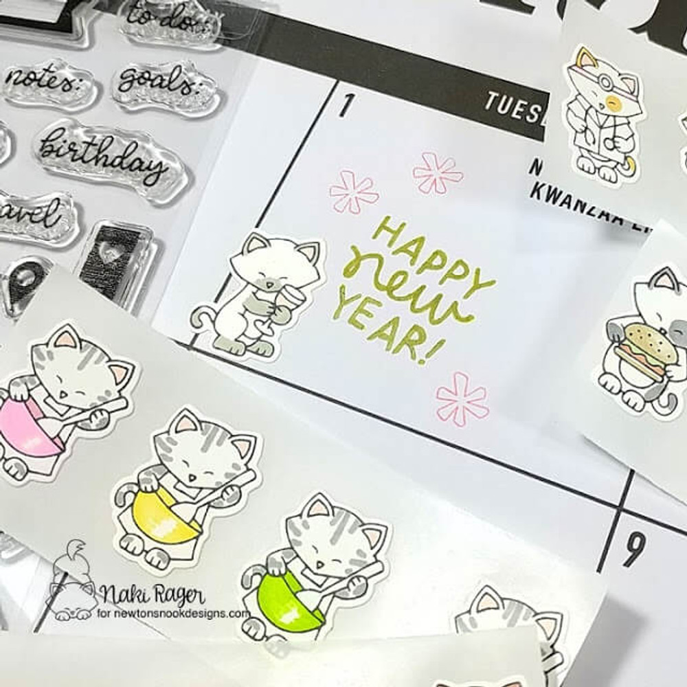 Newton Makes Plans Stamp Set ©2019 Newton's Nook Designs