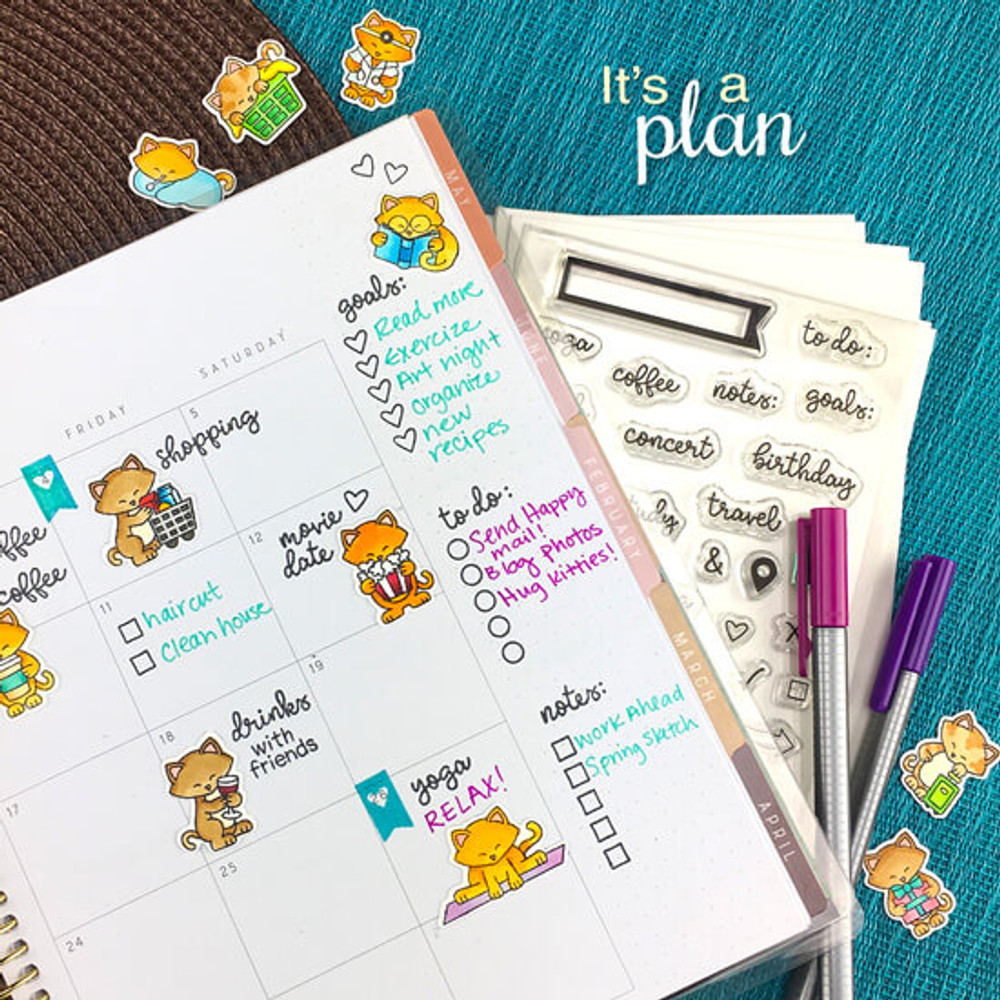 It's A Plan Stamp Set ©2019 Newton's Nook Designs
