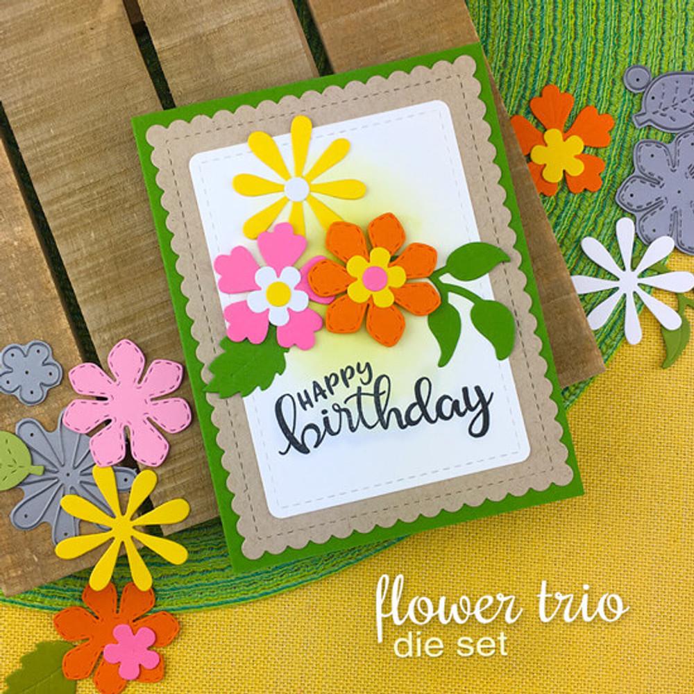 Flower Trio Die Set ©2019 Newton's Nook Designs