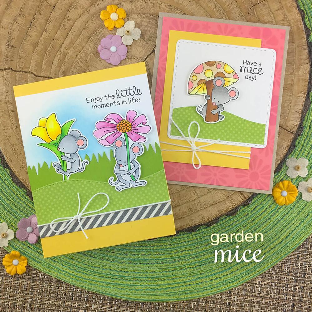 Garden Mice Stamp Set ©2019 Newton's Nook Designs