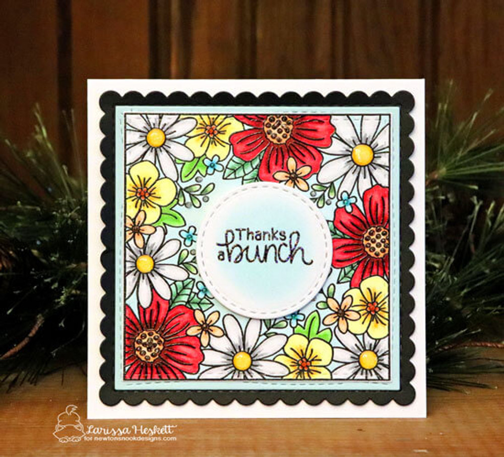 Floral Fringe Stamp Set ©2019 Newton's Nook Designs