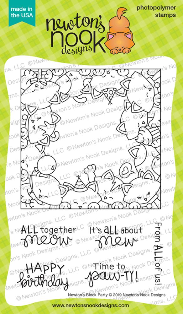 Newton's Block Party Stamp Set ©2019 Newton's Nook Designs