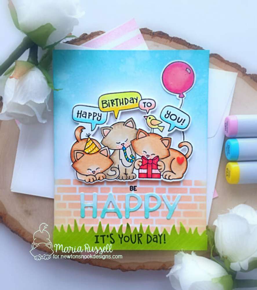 Newton's Birthday Trio Stamp Set ©2019 Newton's Nook Designs