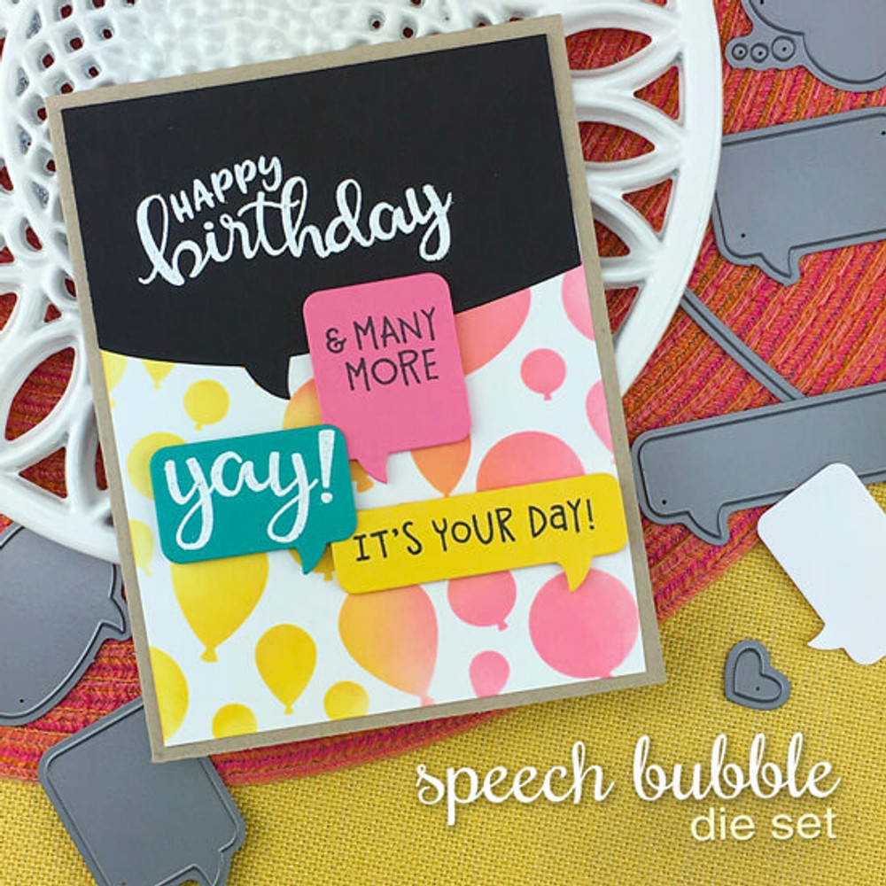 Speech Bubble Die Set ©2019 Newton's Nook Designs