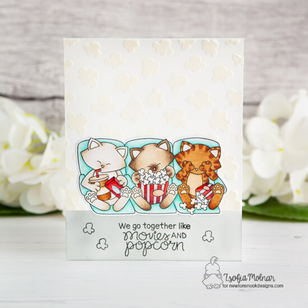 Newton's Movie Night Stamp Set ©2019 Newton's Nook Designs