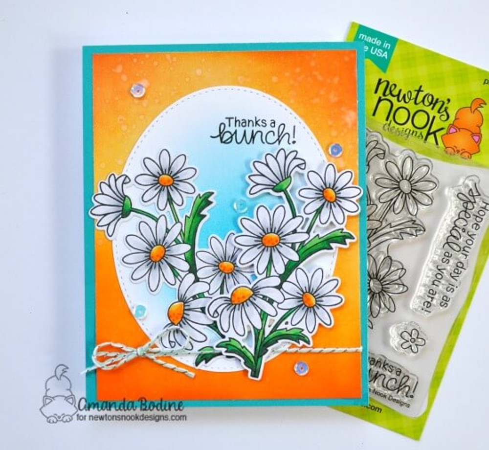 Dainty Daisies Stamp Set ©2019 Newton's Nook Designs