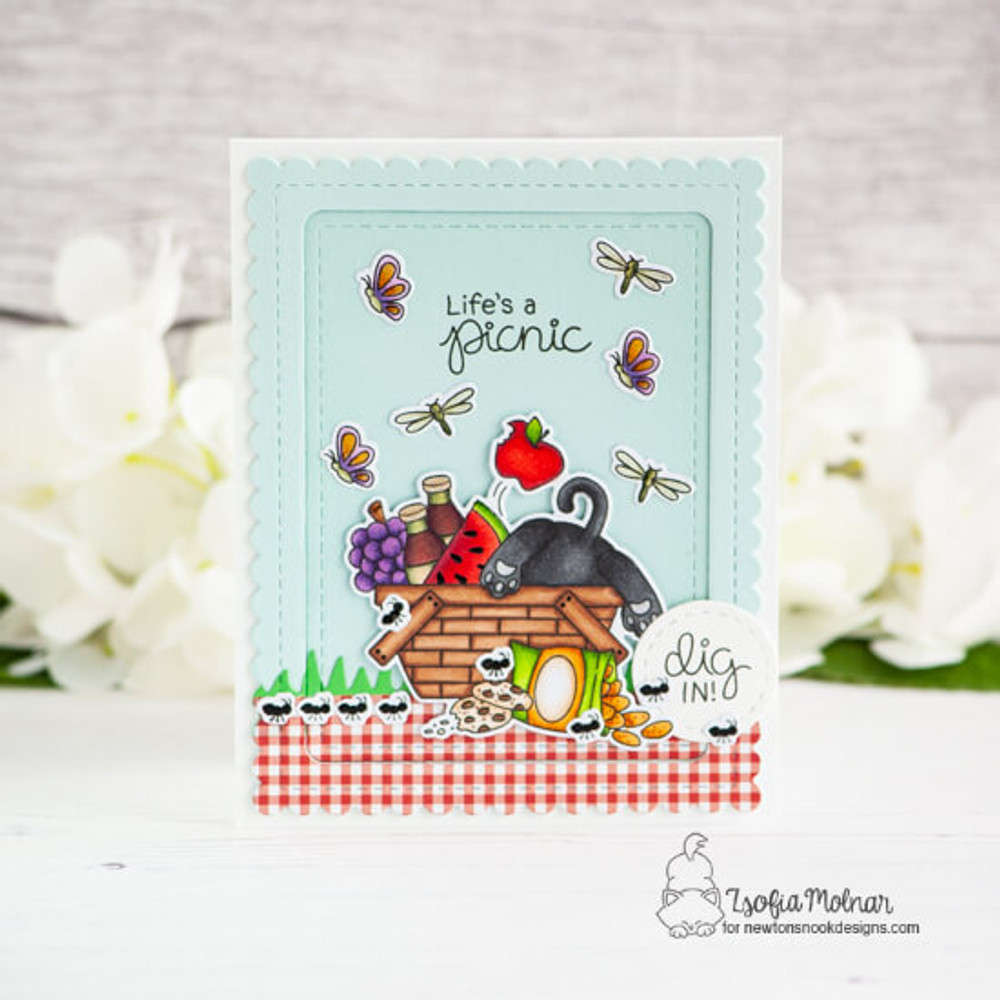 Newton's Picnic Stamp Set ©2019 Newton's Nook Designs