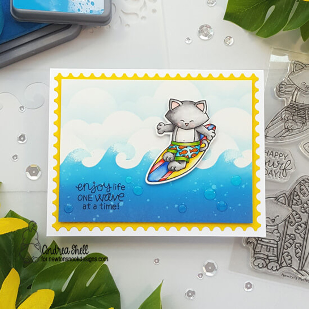 Newton's Perfect Wave Stamp Set ©2019 Newton's Nook Designs