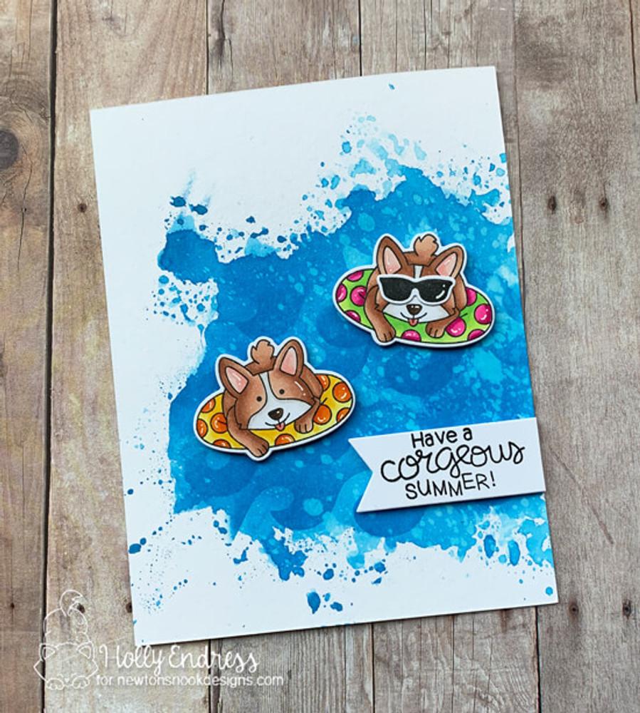 Corgi Beach Stamp Set ©2019 Newton's Nook Designs