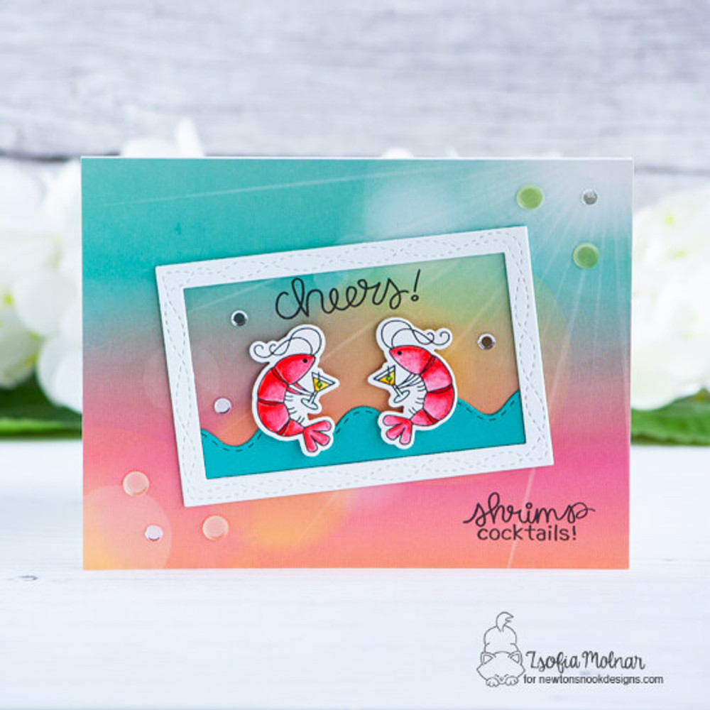 Shrimp Cocktails Stamp Set ©2019 Newton's Nook Designs