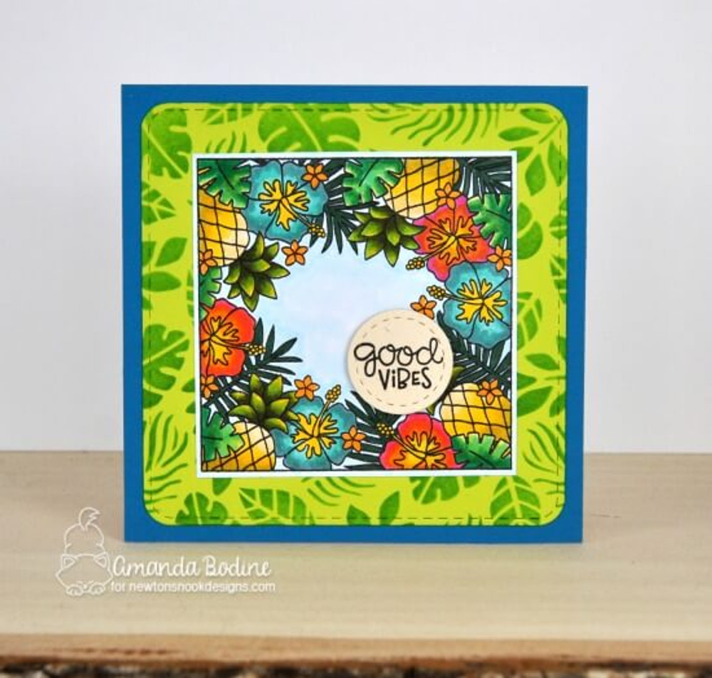 Tropical Fringe Stamp Set ©2019 Newton's Nook Designs