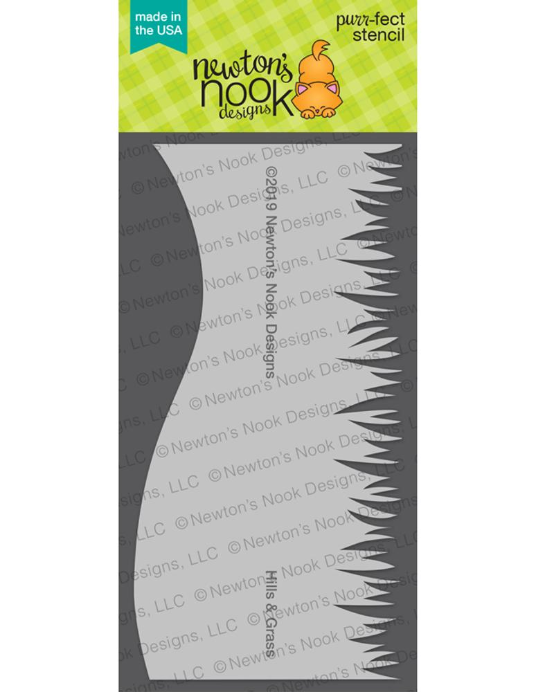 Hills & Grass Stencil ©2019 Newton's Nook Designs