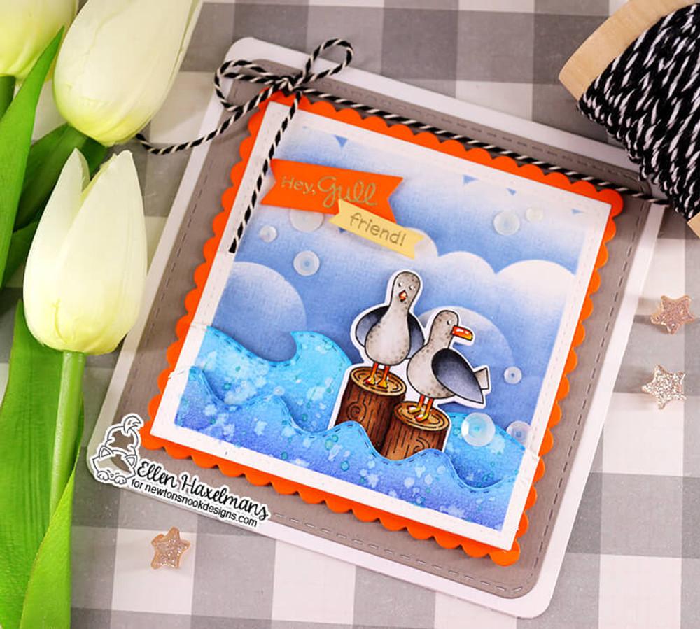 Clouds Stencil ©2019 Newton's Nook Designs
