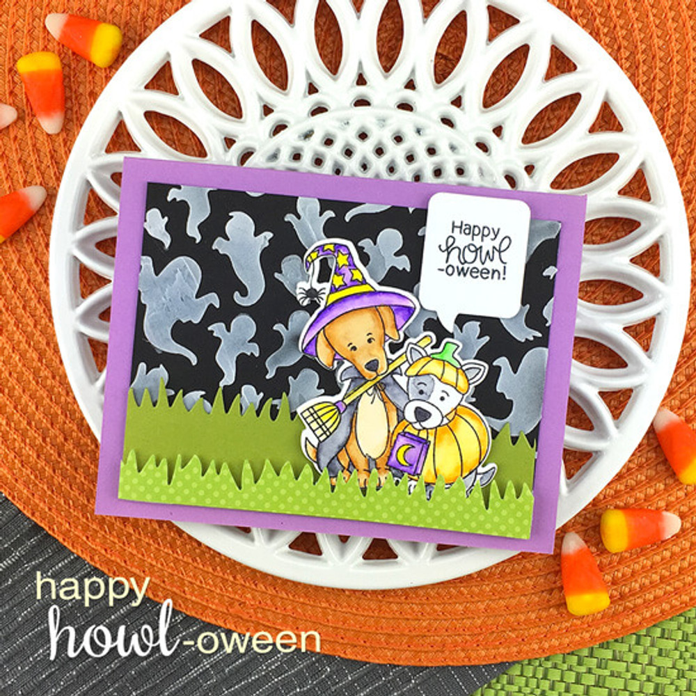 Happy Howl-oween Stamp Set ©2019 Newton's Nook Designs