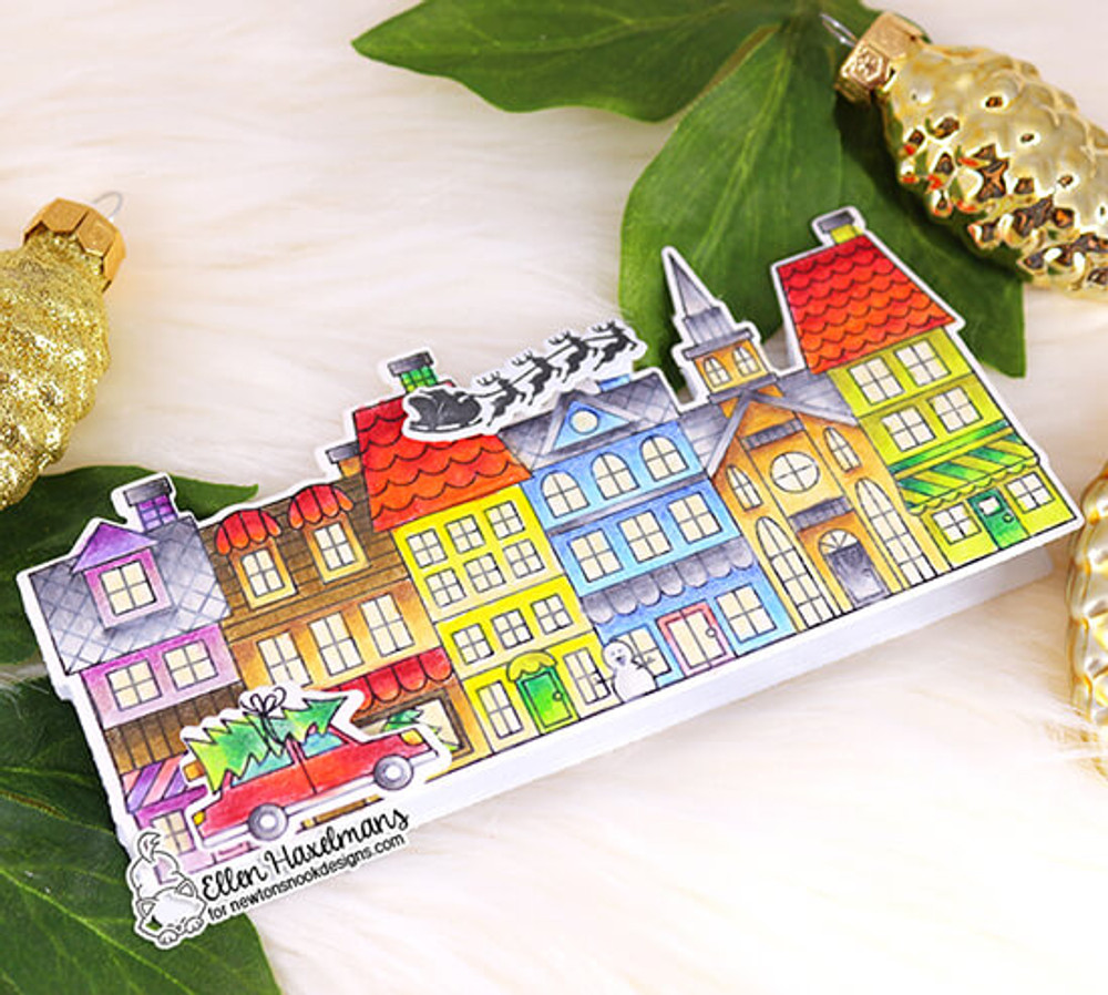 Main Street Christmas Stamp Set ©2019 Newton's Nook Designs