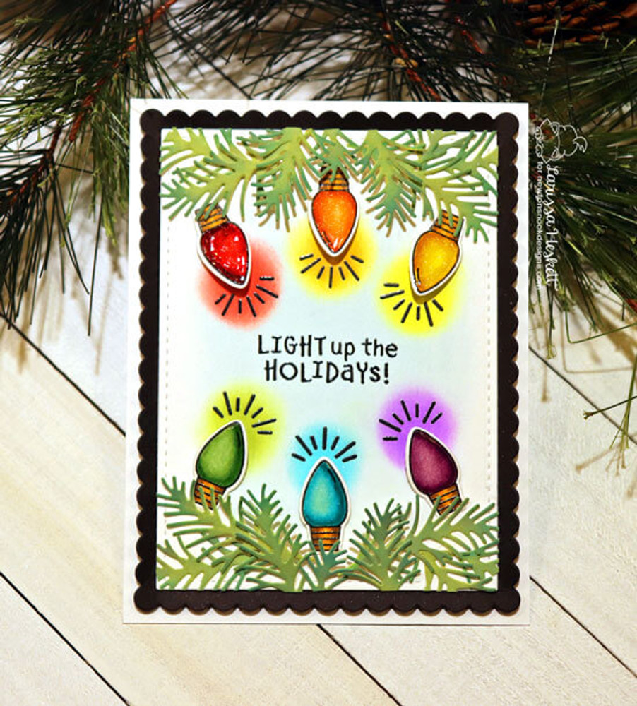 Holiday Lights Stamp Set ©2019 Newton's Nook Designs