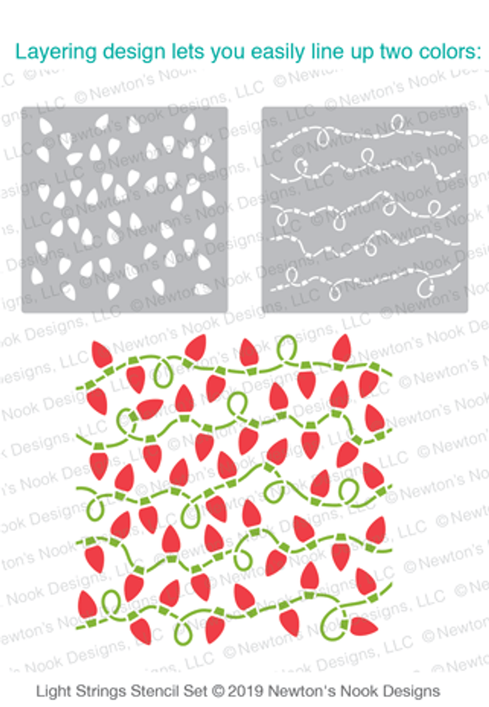 Light Strings Stencil Set ©2019 Newton's Nook Designs