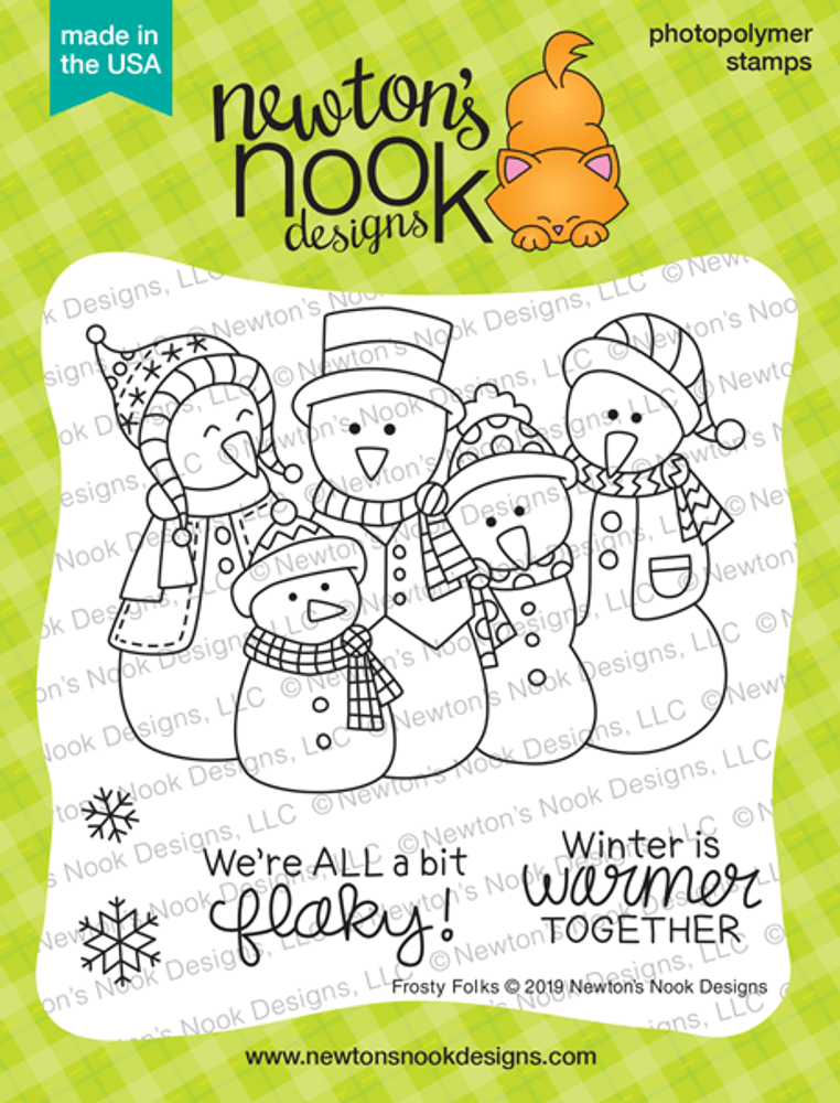 Frosty Folks Stamp Set ©2019 Newton's Nook Designs