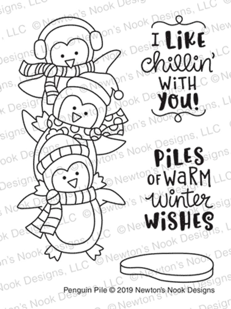 Penguin Pile Stamp Set ©2019 Newton's Nook Designs