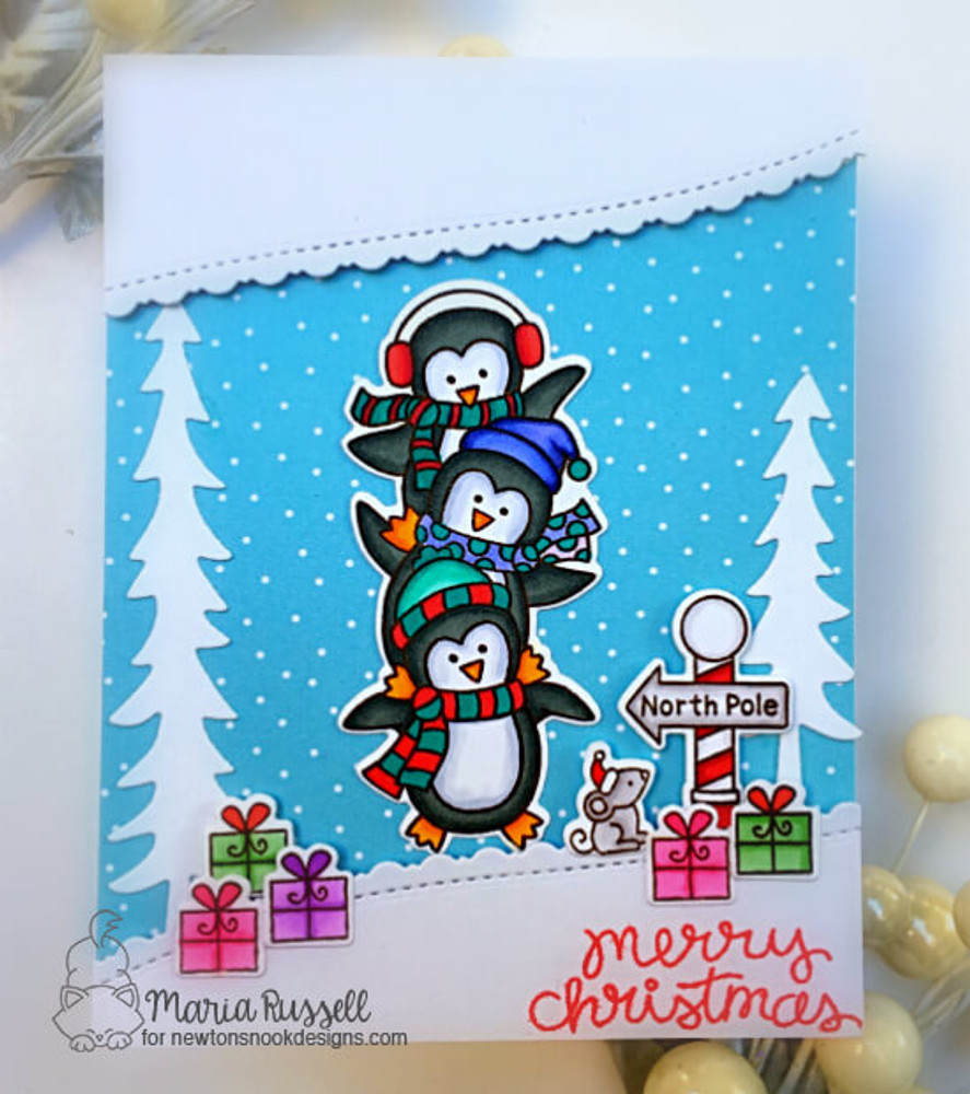 Penguin Pile Stamp Set ©2019 Newton's Nook Designs