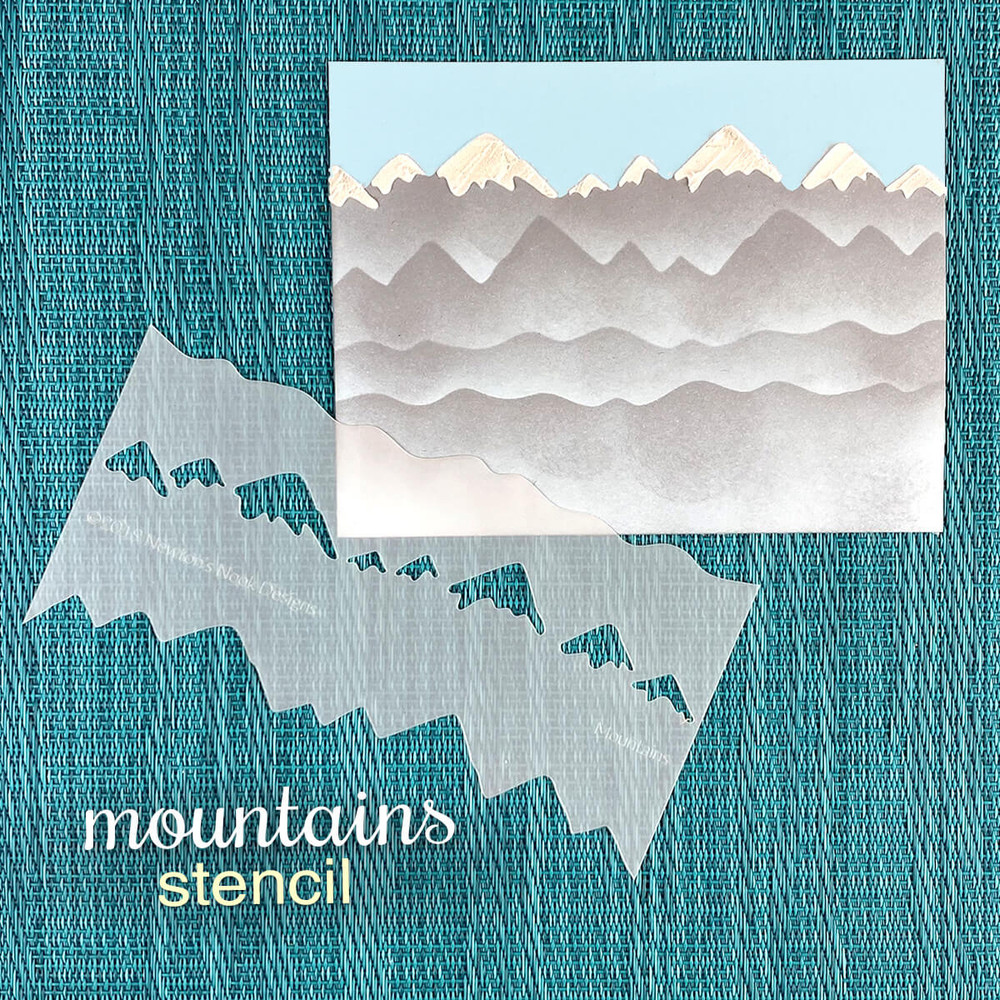 Mountains Stencil  ©2019 Newton's Nook Designs