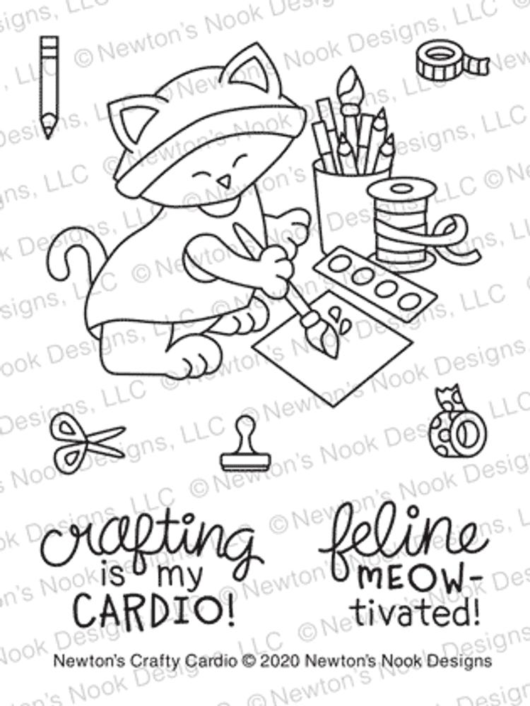 Newton's Crafty Cardio Stamp Set ©2020 Newton's Nook Designs