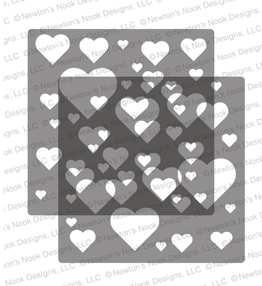 Bokeh Hearts Stencil Set ©2020 Newton's Nook Designs
