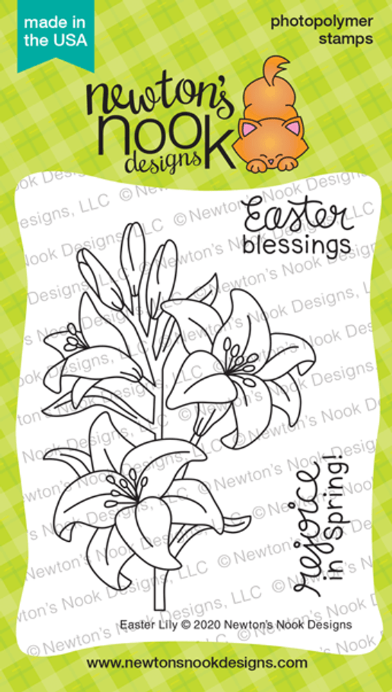 Easter Lily Stamp Set ©2020 Newton's Nook Designs