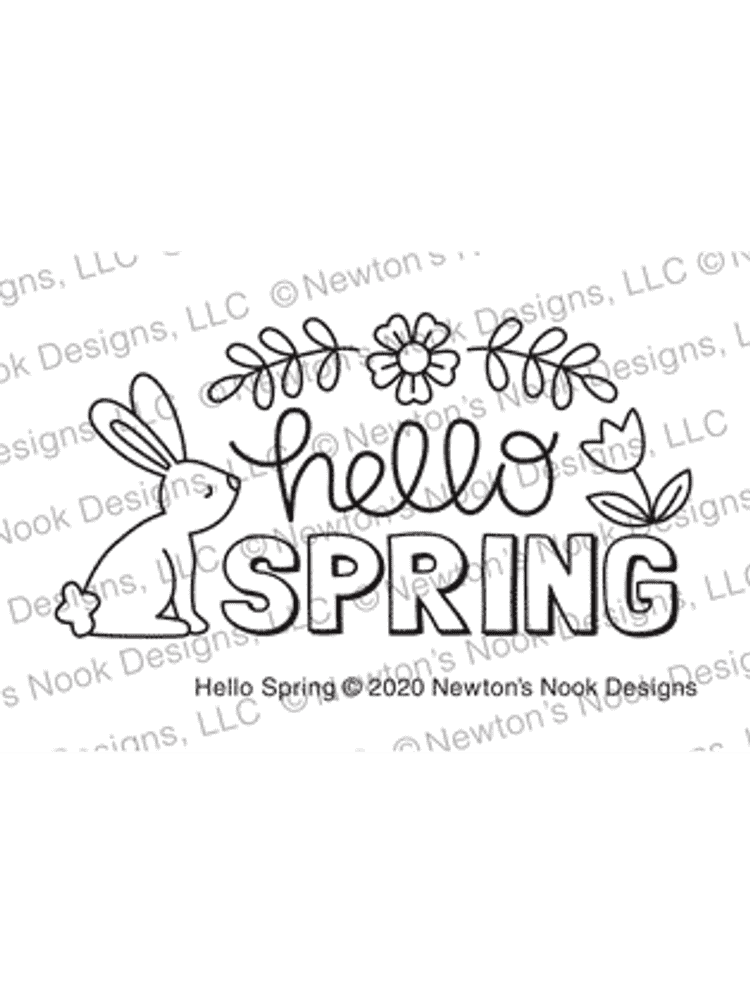 Hello Spring Stamp Set ©2020 Newton's Nook Designs